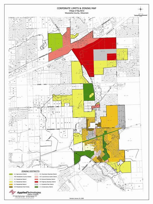 Zoning Map 171 Village Of Big Bend Wisconsin
