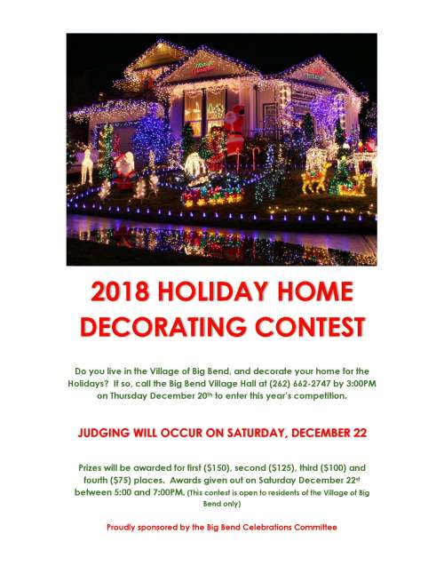 Holiday Home Decorating Contest 2018