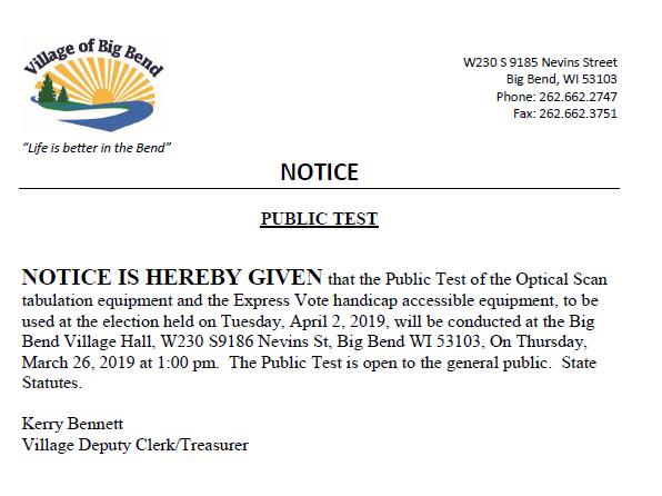 Public Test March 26, 2019
